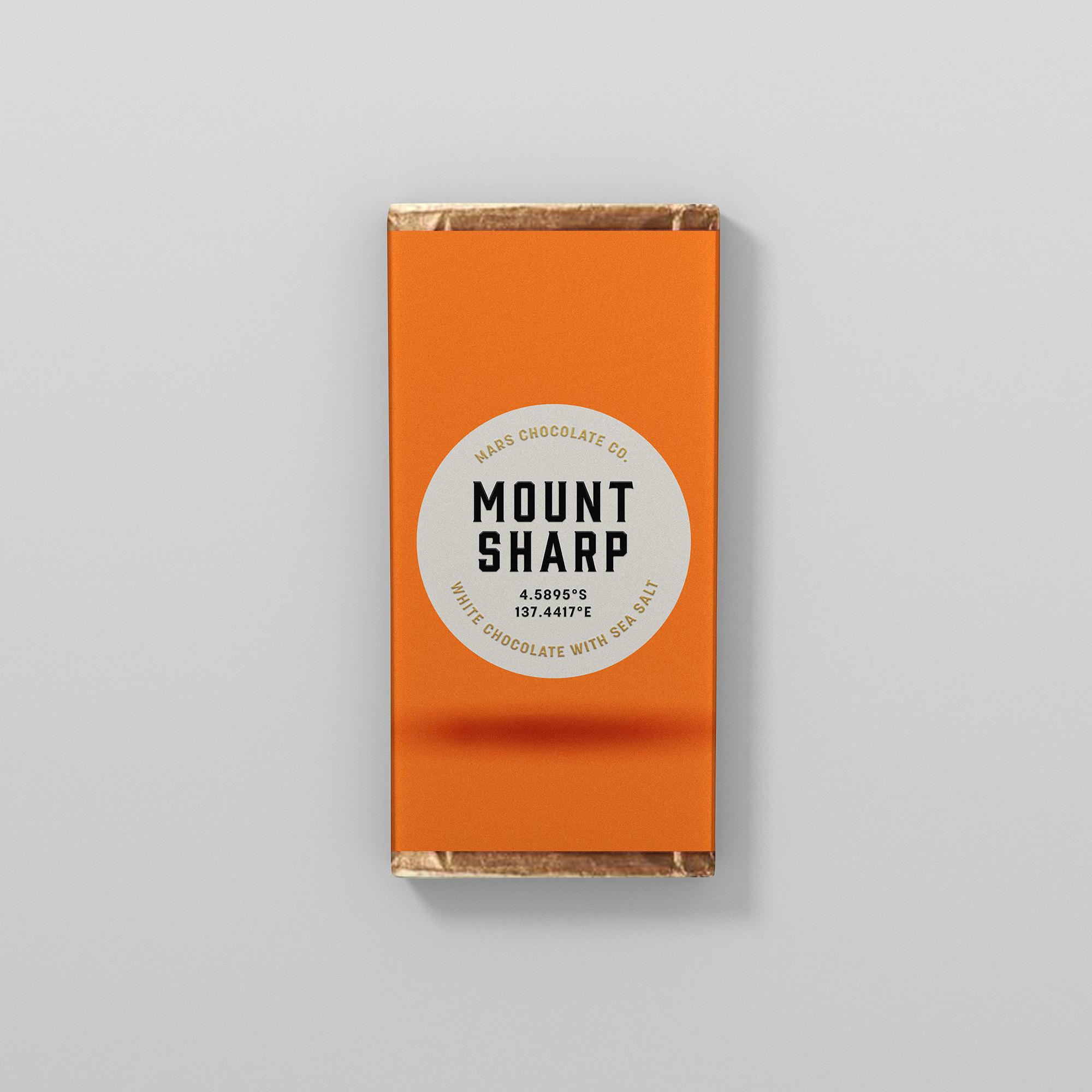 Mount Sharp white chocolate packaging Franziska Böttcher