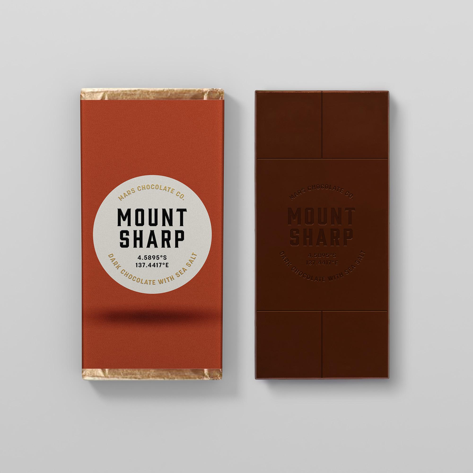 Mount Sharp dark chocolate packaging Franziska Böttcher