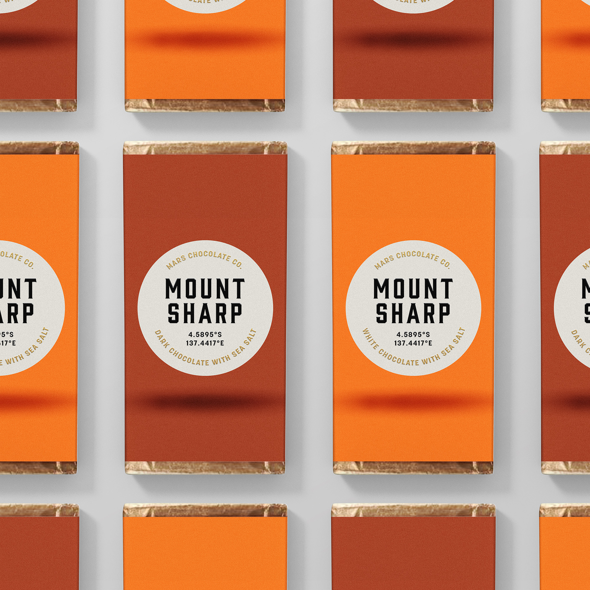 Mount Sharp chocolate bars packaging Franziska Böttcher