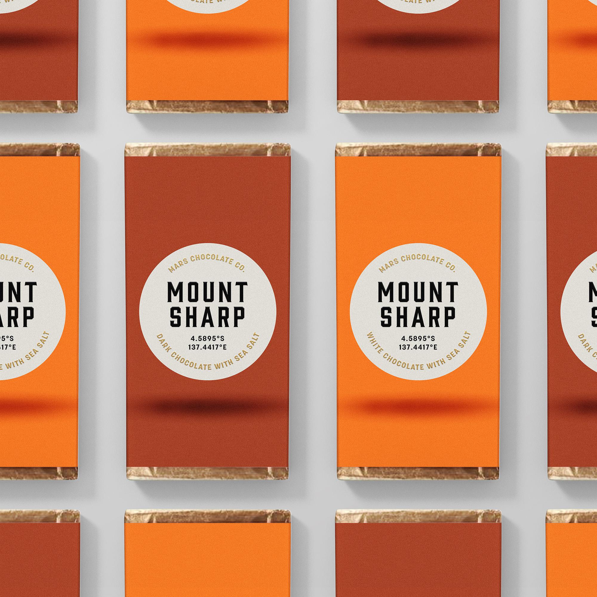 Mount Sharp chocolate bars packaging Franziska Böttcher